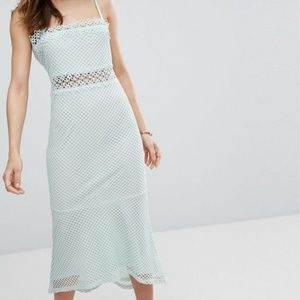 Vero Moda Lace Cutwork Detail Fishtail Midi Dress